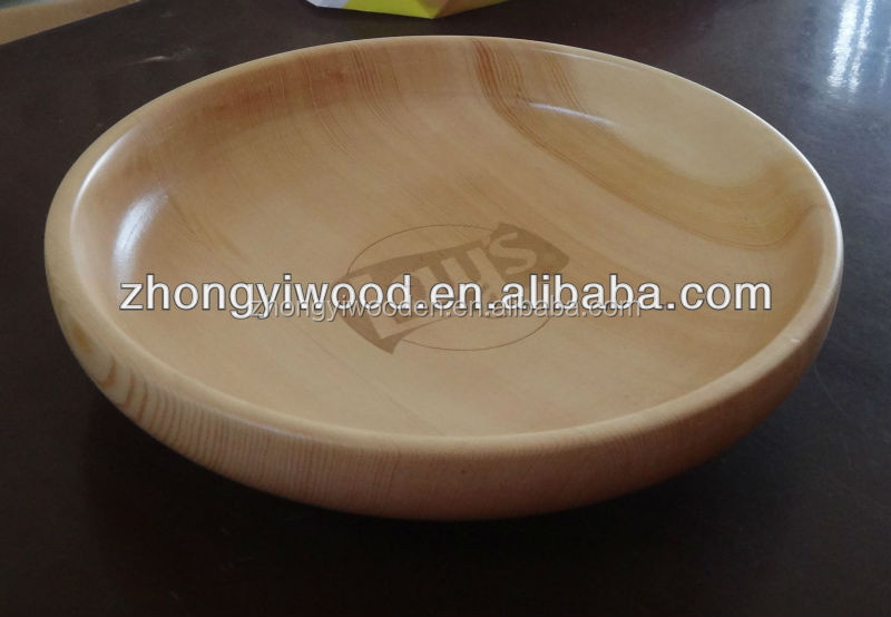 Trade assurance high quality unique design eco-friendly large wood salad bowl