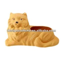 terracotta lion shaped animal planter