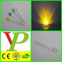 3mm 5mm 10mm high bright emitting yellow led diode cheaper price