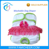 Famicheer Female Washable Dog Diaper Wrap with Pads Sewn