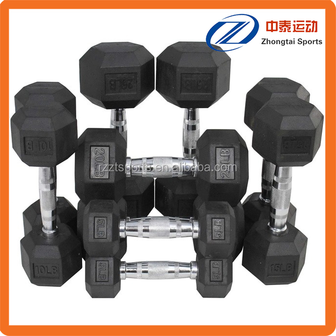 women's body toning hex dumbbell set