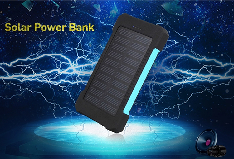 Solar Power Bank 20000 MAH Caricatore Portatile Powerbank Solare Impermeabile