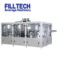 Automatic fruit beverage small glass monoblock juice small bottle filling machine