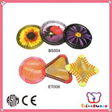 ICTI Factory colorful printed promotional nylon ring frisbee
