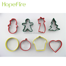 6 stks Rvs Kerst Cookie Cutters