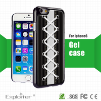 cool black shoelace deisgn crystal cover case for iphone