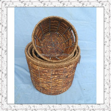handicraft corn leaf weaving golf ball basket