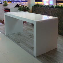 pure white solid surface cell phone display table
