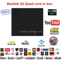 Original Beelink X2 AII WINNER H3 Quad-core 1G/8G H.265 X2 android4.4 tv box KODI Pre-installed 4K x 2K UHD X2 internet tv box
