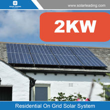 High quality 2000w solar on grid power system include pv panel also called home solar power station