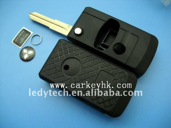 Mitsubishi flip key modified remote key blank car key blank wholesale and retail