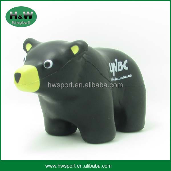 Kids Toy Pu Brown Bear Foam Stress Ball