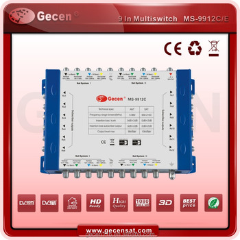 Gecen 2017 Cascadable Multiswitch of 9 in 12 MS-9912C/Cascade Switch