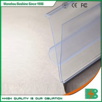 Boshine Supermarket Plastic PVC Extruded Shelf Data Strip Label Holders