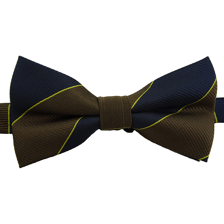 Stock Polyester Custom Yellow Girl's Packaging Wool Bow Tie For Man