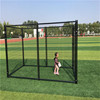 Durable and anti-rust eco-friendly and stocked powder coating large outdoor wrought iron dog cages/dog kennels