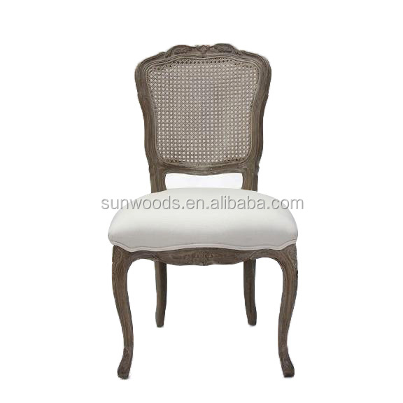 Louis style dining indoor furniture rattan armchair dinning chairs