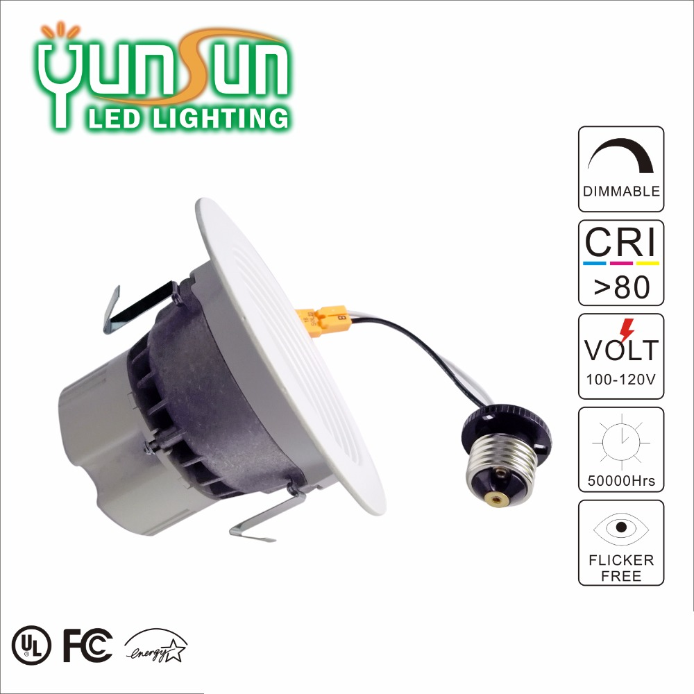 factory price 11w 2700K 4'' cri90 die casting aluminum bracket and trim led recessed square cob retrofit dimmable led downlight