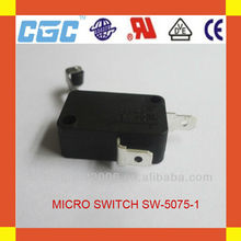 Made in china 5A 250VAC black micro switch SW-5075-1 handle switch,motorcycle handle switch