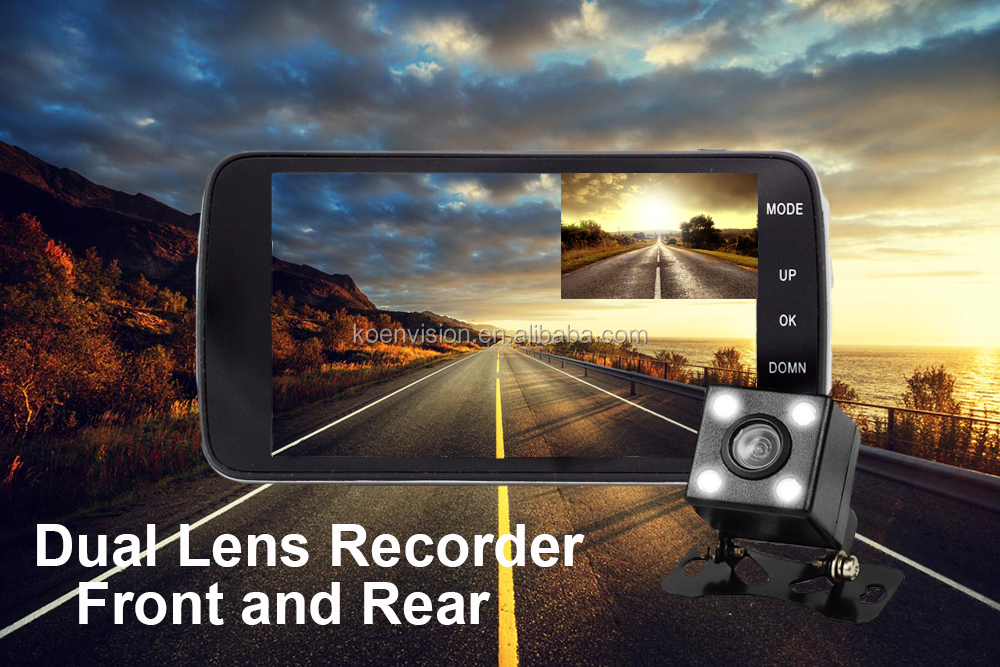 Wholesale IPS 4 Inch Screen Novatek 96658 Sony 323 Car DVR Dual Camera Car DVR 1080P