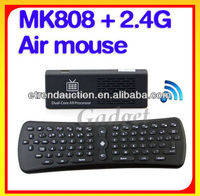 Mini PC HD Cheap Mini PC MK 808 Android 4.1 Dual Core with 2.4G Wireless Air Mouse
