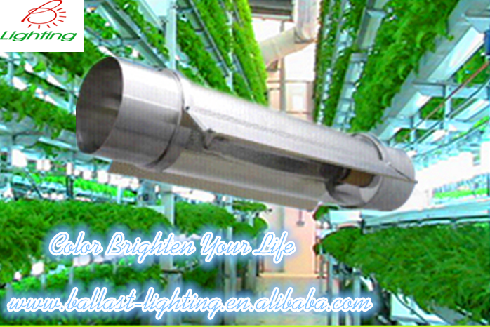 "Factory Price Hydroponic Greenhouse 400W - 1000W HID HPS MH bulb E39 base 6""/6inch Air Cooled Tube Aluminum Grow Light Reflector"