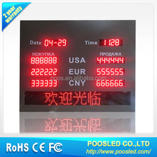 digital led exchange rates display for hotel \ display panel exchange rate manual \ exchange billboard banner