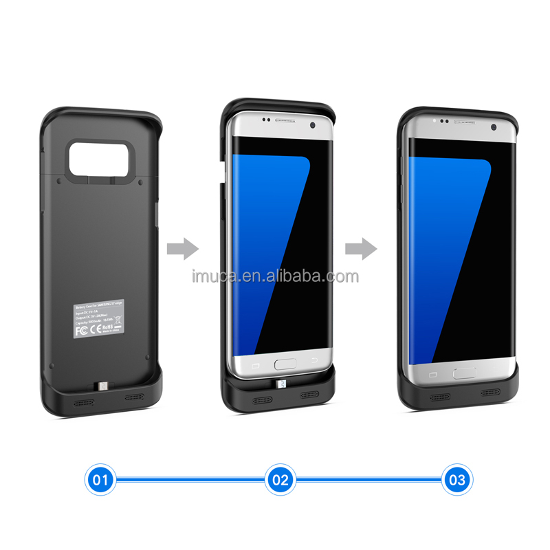 OZZIE 5000mAh Portable External Backup Battery Charger Cover Case for Samsung Galaxy S7 Edge