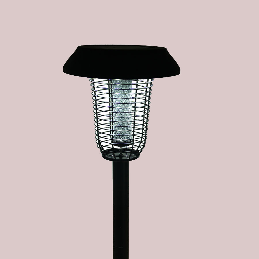 850mm high with ground insertion stainless steel mosquito killer lamp UV solar rechargeable LED light