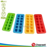 wholesale square shape Ice Cube Tray silicon molds
