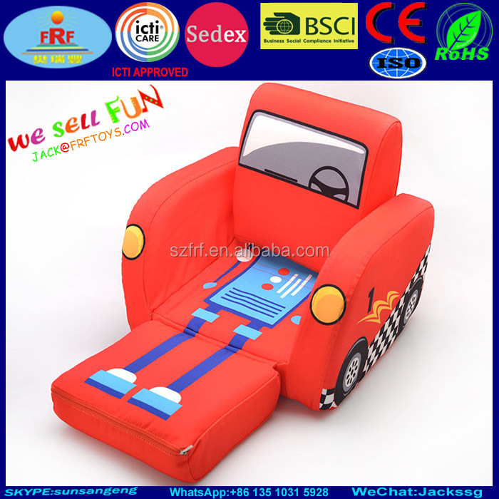 new fun kids inflatable car bed sofa car inflatable chair for kids