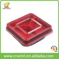 Cheap plastic disposable compartment lunch box take away bento box