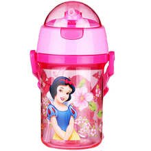 Plastic bpa free Baby Water Bottle Kid Bottles With Straw Child drinking bottle with shoulder straps