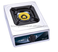 2014 New Model Single Gas Hobs , Stainless Steel Gas Cooking Gas Stove Lighter