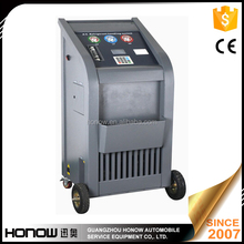 A/C refrigerant recharging and vacuuming machine