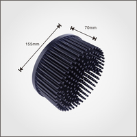OEM High Quality Black Anodized Aluminum Cold forging Heat Sink