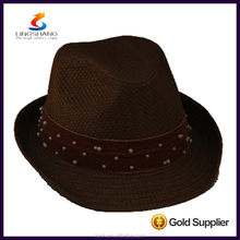 DSC 0009 LINGSHANG Hot Wholesale Fashion Dress High Quality Paper Panama Straw Hat