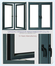Good sealing windows thermal break double glass with Argon factory price Aluminum windows
