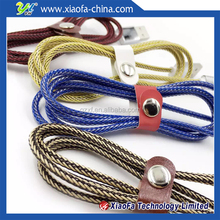 Fashion Zinc alloy usb data cable for mobile phone and sync data