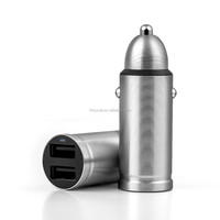 Car Charger Metal Casing Dual USB Ports Fast Charging Universal Car Charger For Xiaomi Samsung iPhone iPad ETC