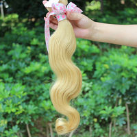 Fat shipping malaysian human hair extension body weave color 613/27