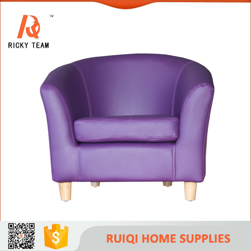 French small children tub sofa purple children leather chair