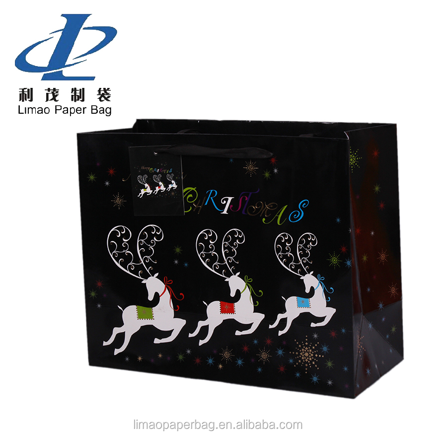Christmas gift paper bag, Christmas cloth paper packaging bag