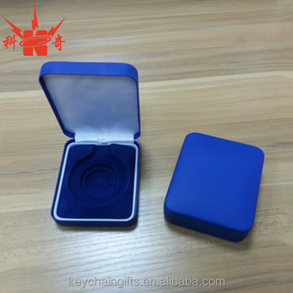 High quanlity custom packaging velvet coin metal box