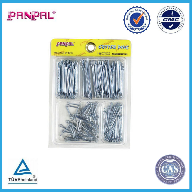 China factory supply 145pc carbon steel cotter split pin,assorted size