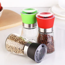 wholesale glass manual salt and pepper grinder bottle