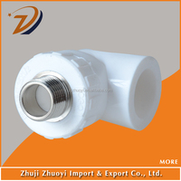 PPR Plastic Pipe Fittings Male Elbow 90 Degree