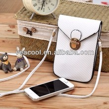Leather Case Carry Bag Pocket Pouch Sleeve For Iphone Samsung HTC Motorola LG Sony