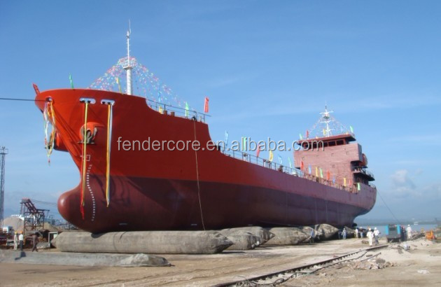 Ship launching use marine rubber air bag marine airbag