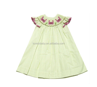 lime green toddler smocked christmas dress baby casual silk dress